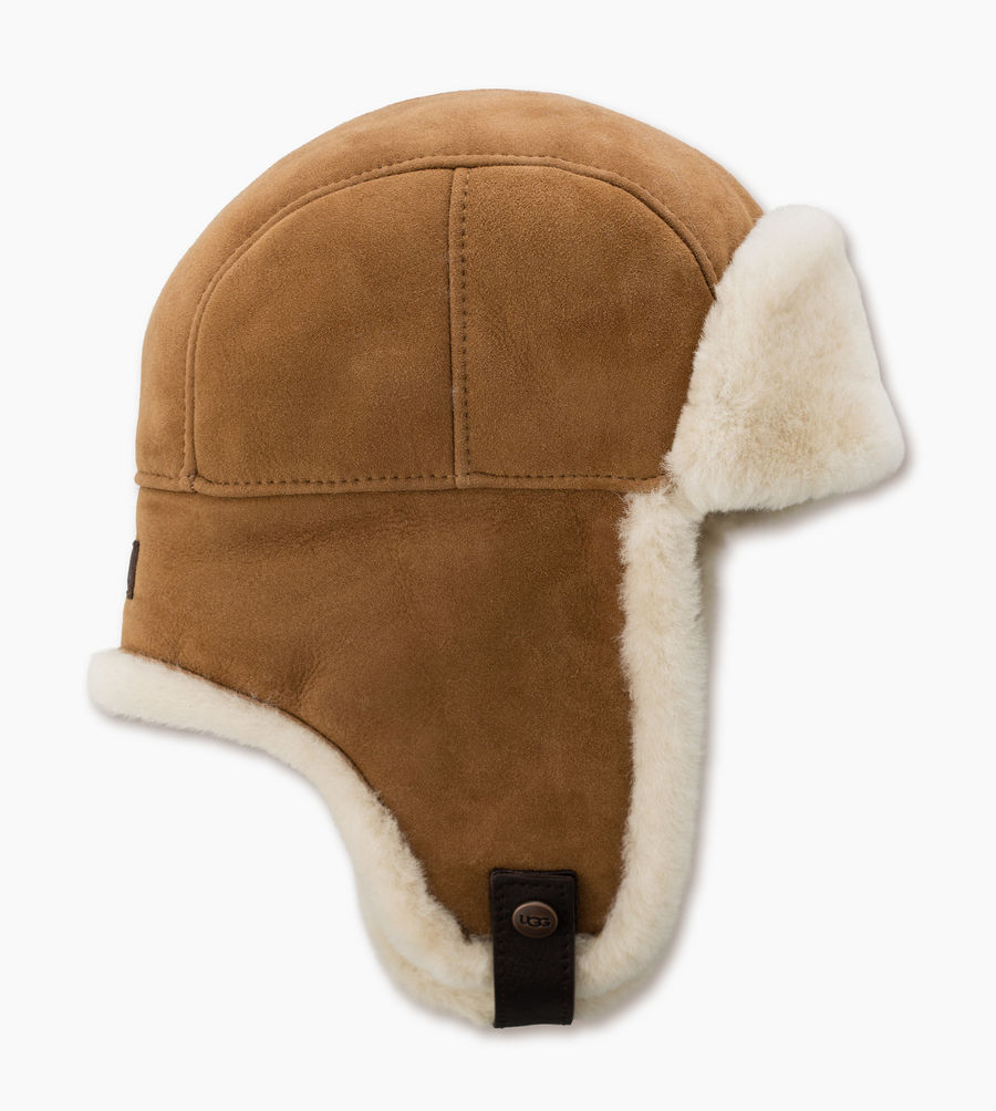 CHEAP UGG MEN'S SHEEPSKIN TRAPPER CHESTNUT ONLINE