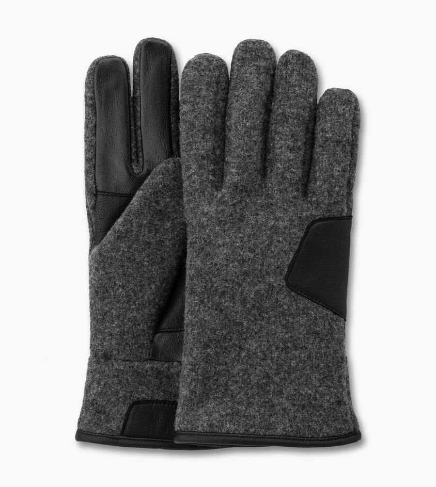 CHEAP UGG MEN'S FABRIC SMART GLOVE CHARCOAL ONLINE