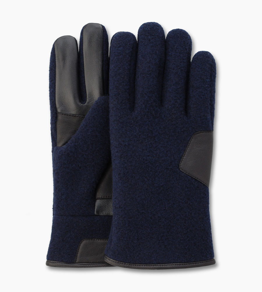 CHEAP UGG MEN'S FABRIC SMART GLOVE NAVY ONLINE
