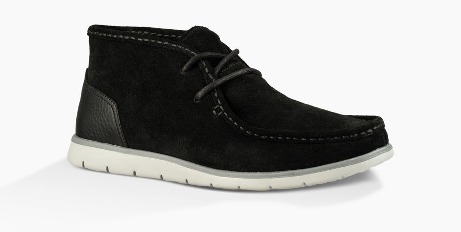 CHEAP UGG MEN'S HENDRICKSON SUEDE BLACK ONLINE