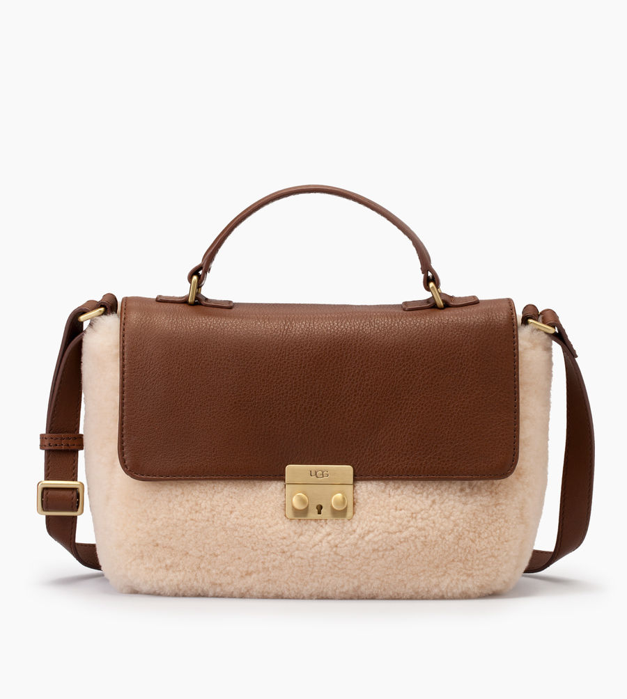 CHEAP UGG WOMEN'S VIVIENNE SHEEPSKIN SMALL SATCHEL CHESTNUT / NATURAL ONLINE