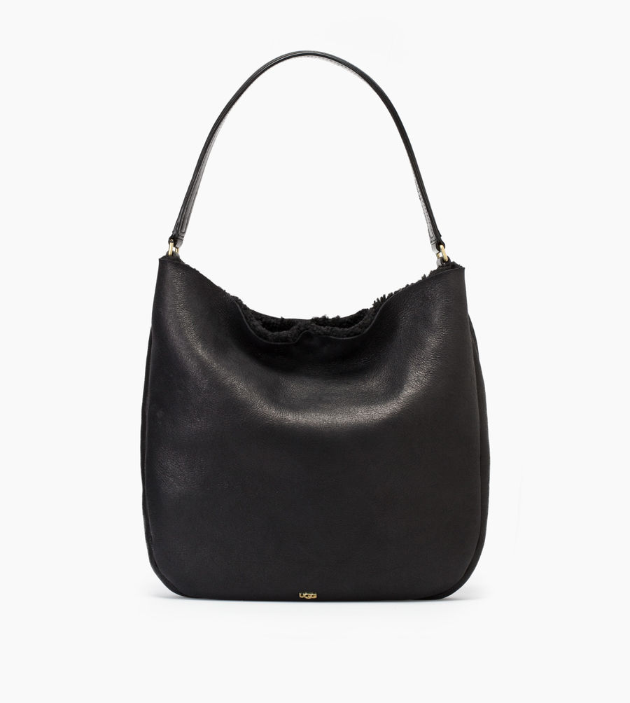 CHEAP UGG WOMEN'S CLAIRE HOBO BLACK BOMBER ONLINE