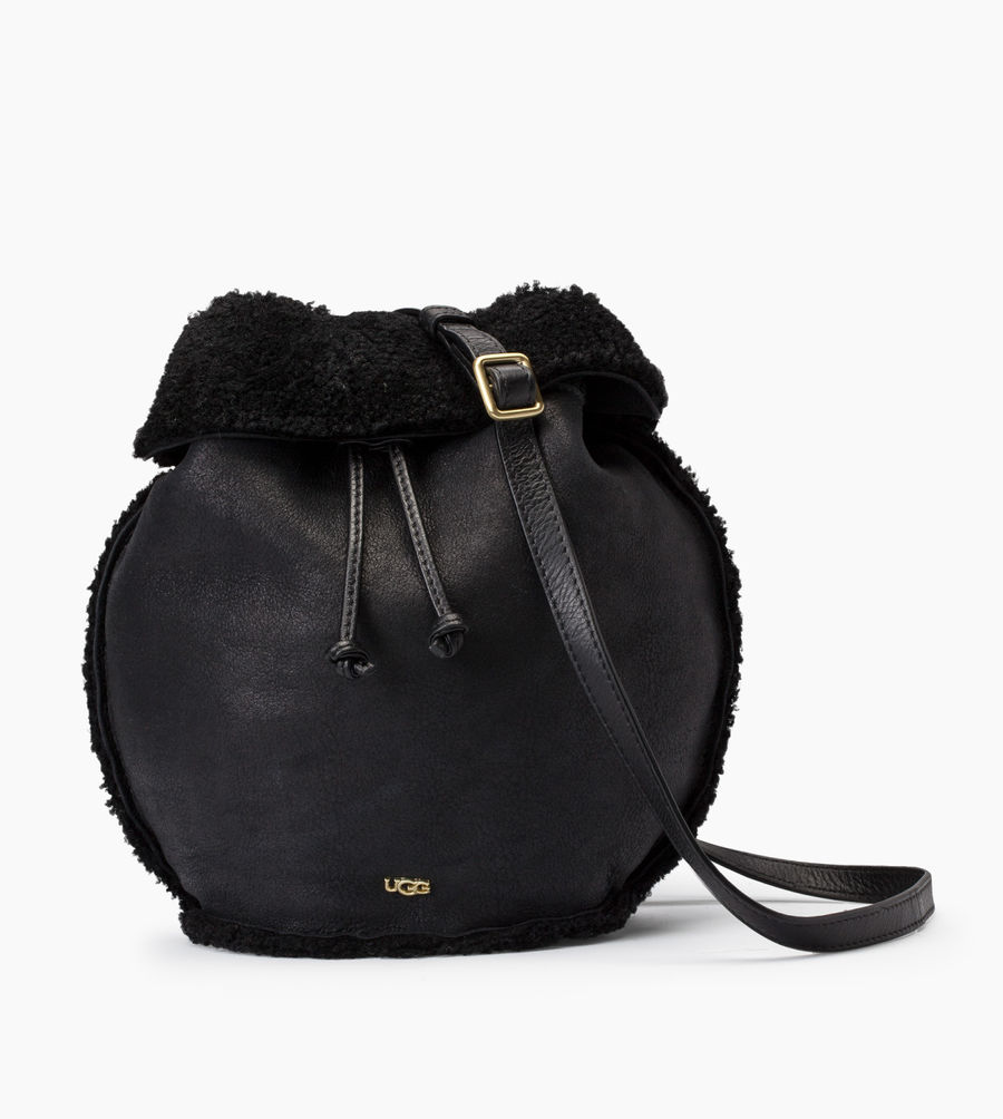 CHEAP UGG WOMEN'S CLAIRE DRAWSTRING BLACK BOMBER ONLINE