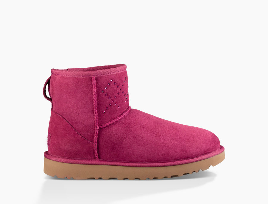 CHEAP UGG WOMEN'S CLASSIC MINI CRYSTAL DIAMOND OXBLOOD ONLINE