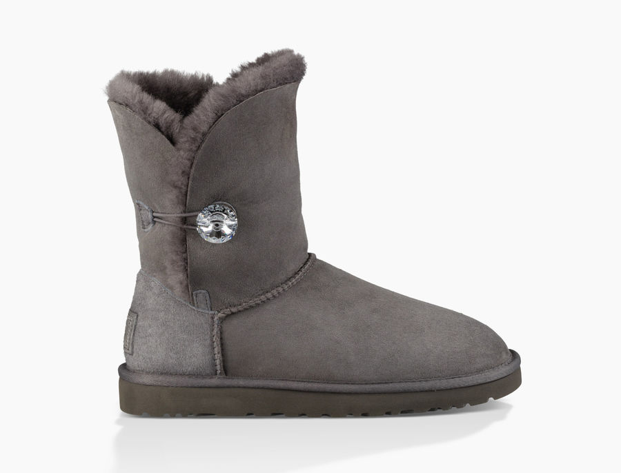 CHEAP UGG WOMEN'S BAILEY BUTTON BLING  GREY ONLINE