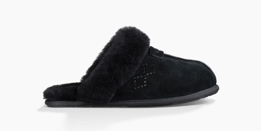 CHEAP UGG WOMEN'S SCUFFETTE II CRYSTAL DIAMOND BLACK ONLINE