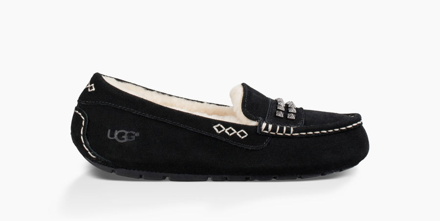 CHEAP UGG WOMEN'S ANSLEY DECO STUDS BLACK ONLINE